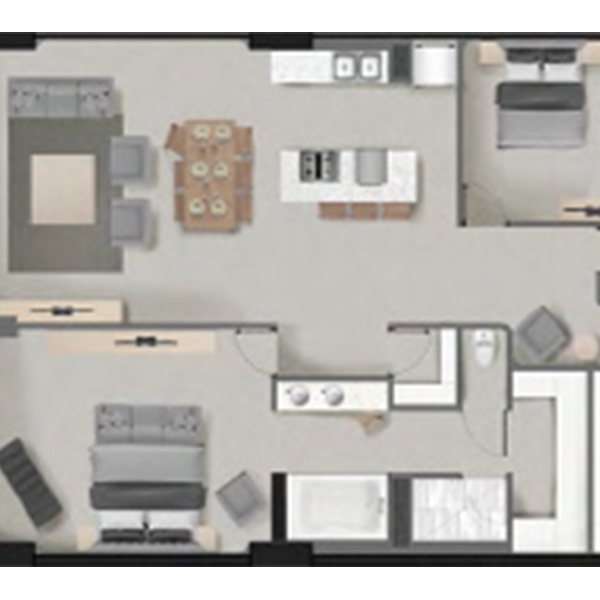 Antigua 2B Floorplan